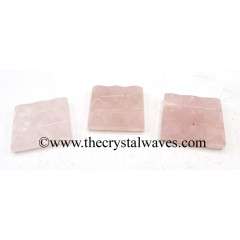 Rose Quartz 9 Pyramid Lemurian Power Plate