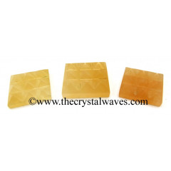 Yellow Aventurine 9 Pyramid Lemurian Power Plate