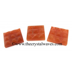 Red Aventurine 9 Pyramid Lemurian Power Plate