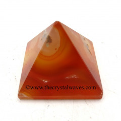 Red Banded Onyx Chalcedony less than 15mm pyramid