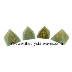 Green Aventurine Small Usui Reiki Pyramid