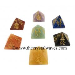Small Usui Reiki Pyramid Chakra Set