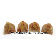 Sunstone Small Usui Reiki Pyramid