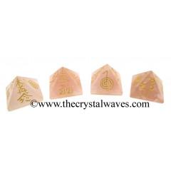 Rose Quartz Small Usui Reiki Pyramid