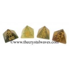 Fluorite Usui Reiki Pyramid