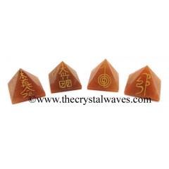 Red Aventurine Usui Reiki Pyramid