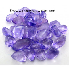 Purple Aura Dyed Crystal Quartz A Grade Tumbled Nuggets