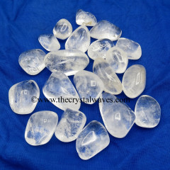 Crystal Quartz Tumbled AB- Grade Tumbled Nuggets