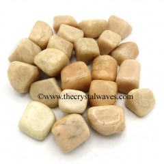 Cream Moonstone Good Quality Tumbled Nuggets