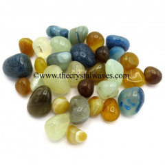 Multi Chalcedony / Onyx Tumbled Nuggets