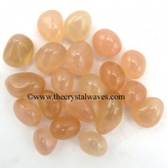 Rose Pink Onyx Chalcedony Tumbled Nuggets