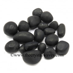 Shungite Tumbled Nuggets Dull Polish
