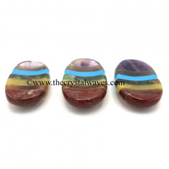 7 Chakra Bonded Worry Stones T