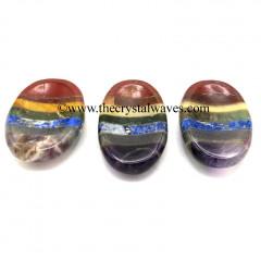 7 Chakra Bonded Worry Stones L